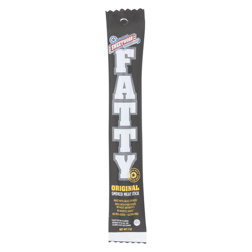 Sweetwood Jerky Company Meat Stick - Fatty - Original - Case Of 20 - 2 Oz