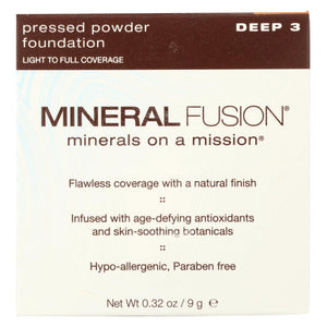 Mineral Fusion - Pressed Powder Foundation - Deep 3 - 0.32 Oz.