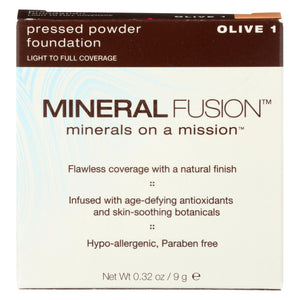 Mineral Fusion - Pressed Powder Foundation - Olive 1 - 0.32 Oz.