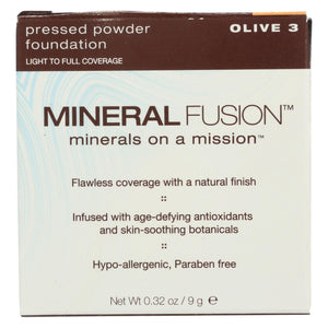 Mineral Fusion - Pressed Powder Foundation - Olive 3 - 0.32 Oz.