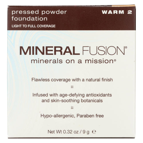 Mineral Fusion - Pressed Powder Foundation - Warm 2 - 0.32 Oz.