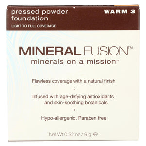 Mineral Fusion - Pressed Powder Foundation - Warm 3 - 0.32 Oz.