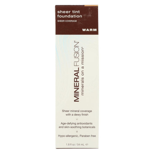 Mineral Fusion - Sheer Tint Mineral Foundation - Warm - 1.8 Oz.