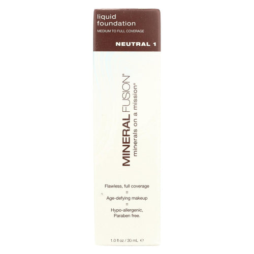 Mineral Fusion - Liquid Mineral Foundation - Neutral 1 - 1 Oz.