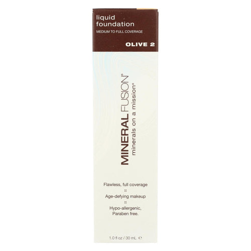 Mineral Fusion - Liquid Mineral Foundation - Olive 2 - 1 Oz.