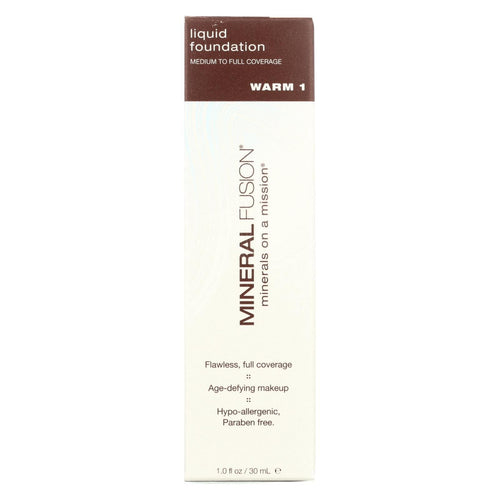 Mineral Fusion - Liquid Mineral Foundation - Warm 1 - 1 Oz.