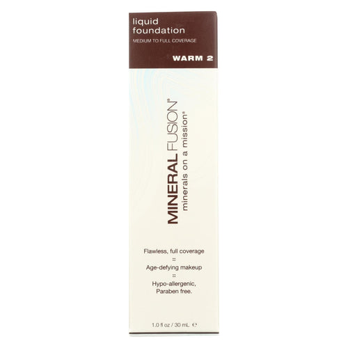 Mineral Fusion - Liquid Mineral Foundation - Warm 2 - 1 Oz.