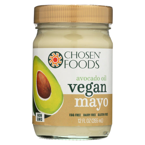 Chosen Foods - Avocado Oil Vegan Mayo - Case Of 6 - 12 Oz.