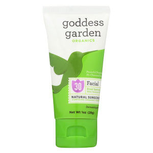 Goddess Garden Sunscreen - Facial - Case Of 12 - 1 Fl Oz.