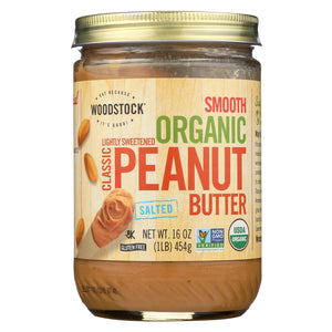 Woodstock Organic Classic Peanut Butter - Smooth - 16 Oz