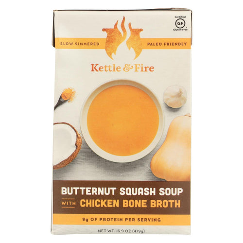 Kettle And Fire Soup - Butternut Squash Soup - Case Of 6 - 16.9 Oz.