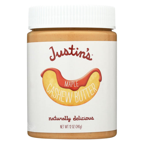 Justin's Nut Butter Cashew Butter - Maple - Case Of 6 - 12 Oz.