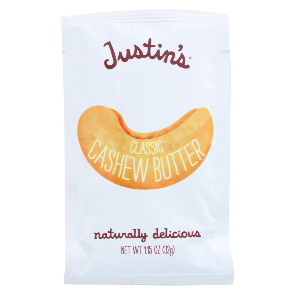 Justin's Nut Butter Cashew Butter - Classic - Case Of 10 - 1.15 Oz.