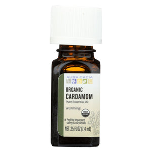 Aura Cacia Essential Oil - Cardamom - Case Of 1 - .25 Fl Oz.
