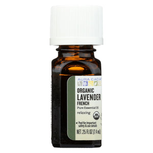 Aura Cacia Essential Oil - French Lavender - Case Of 1 - .25 Fl Oz.