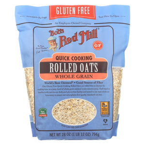 Bob's Red Mill - Quick Cooking Rolled Oats - Gluten Free - Case Of 4-28 Oz.