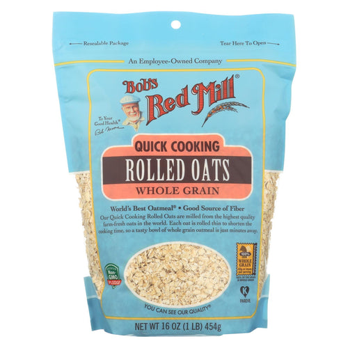 Bob's Red Mill - Quick Cooking Rolled Oats - Case Of 4-16 Oz.