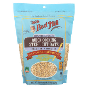 Bob's Red Mill - Quick Cooking Steel Cut Oats - Case Of 4-22 Oz
