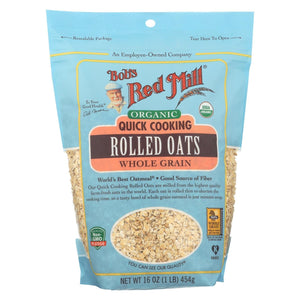 Bob's Red Mill - Oats - Organic Quick Cooking Rolled Oats - Whole Grain - Case Of 4 - 16 Oz.