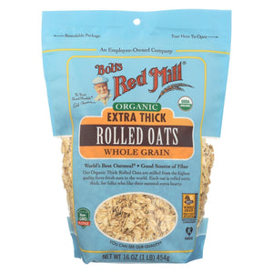Bob's Red Mill - Oats - Organic Extra Thick Rolled Oats - Whole Grain - Case Of 4 - 16 Oz.