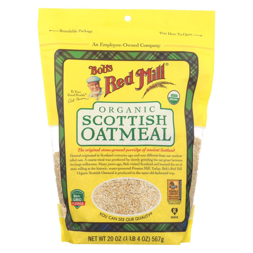 Bob's Red Mill - Oatmeal - Organic Scottish  - Case Of 4 - 20 Oz.