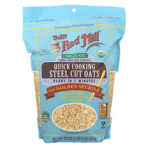 Bob's Red Mill - Oats - Organic Quick Cooking Steel Cut Oats - Case Of 4 - 22 Oz.