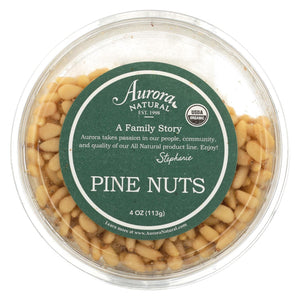 Aurora Natural Products - Organic Pine Nuts - Case Of 12 - 4 Oz.
