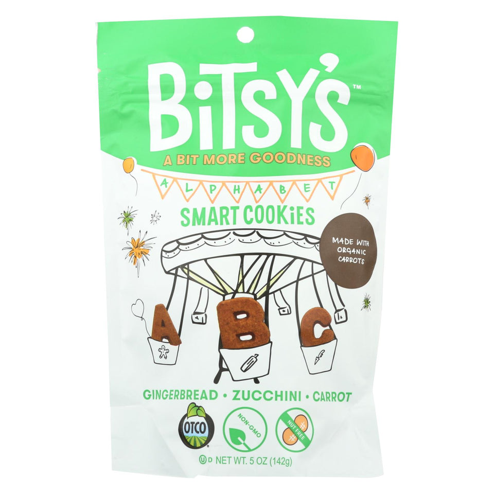 Bitsys Brainfood Cookies Zucchini Gingerbread Carrot - Case Of 6 - 5 Oz.