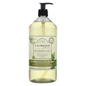 A La Maison - Liquid Hand Soap - Rosemary Mint - 33.8 Fl Oz.