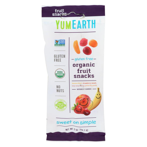 Yumearth Organics - Organic Fruit Snack - 4 Flavors - Case Of 12 - 2 Oz.