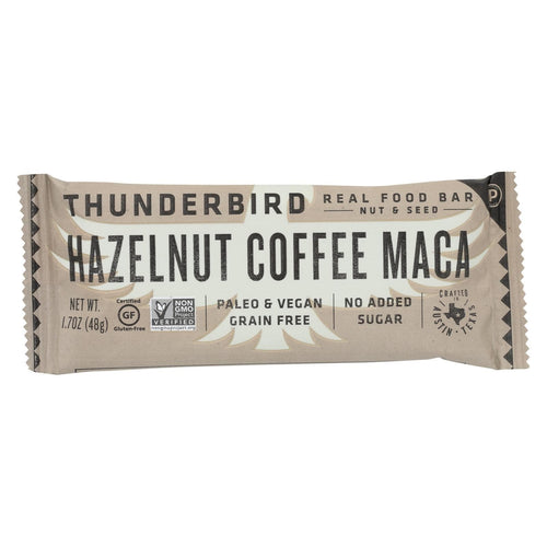Thunderbird - Real Food Bar - Hazelnut Coffee Maca - Case Of 15 - 1.7 Oz.