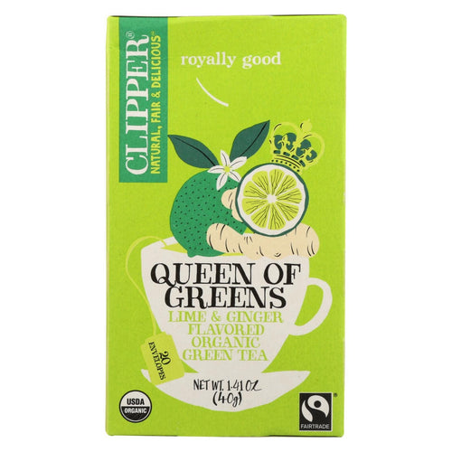 Clipper Tea - Organic Tea - Queen Of Greens - Case Of 6 - 20 Bags