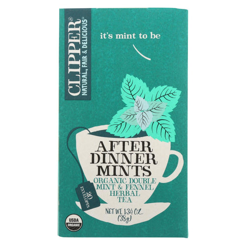 Clipper Tea - Organic Tea - After Dinner Mint - Case Of 6 - 20 Bags