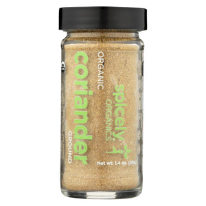 Spicely Organics - Organic Coriander - Ground - Case Of 3 - 1.4 Oz.