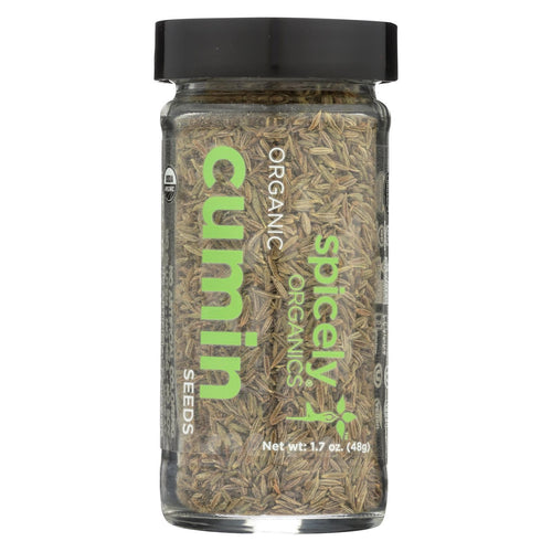 Spicely Organics - Organic Cumin Seeds - Whole - Case Of 3 - 1.7 Oz.