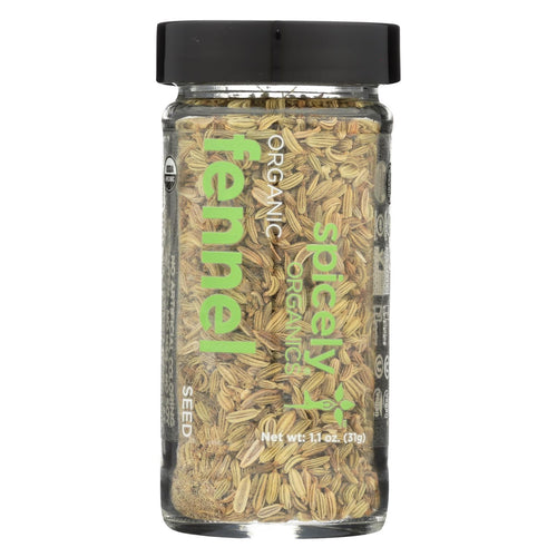 Spicely Organics - Organic Fennel - Seeds - Case Of 3 - 1.1 Oz.