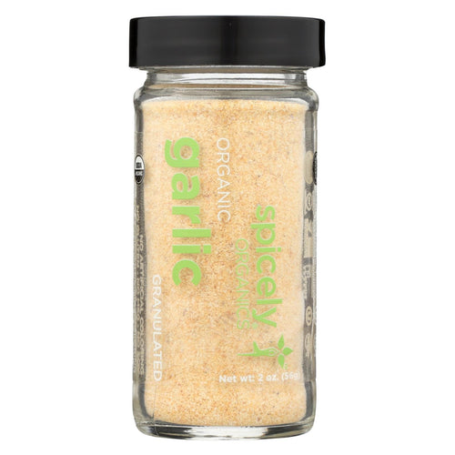 Spicely Organics - Organic Garlic - Granulates - Case Of 3 - 2 Oz.