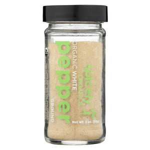 Spicely Organics - Organic Peppercorn - White Ground - Case Of 3 - 2 Oz.