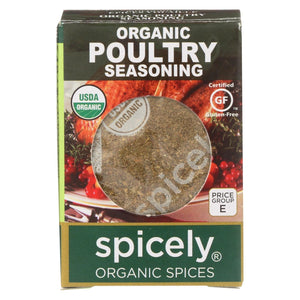 Spicely Organics - Organic Seasoning - Poultry - Case Of 6 - 0.35 Oz.