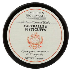 American Provenance - Beard Balm - Fastballs And Fistcuffs - 2 Oz.