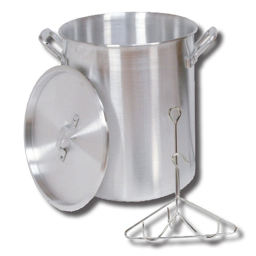 King Kooker #30PK- 30 Qt. Aluminum Turkey Pot - Rack - Lid