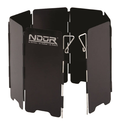 NDuR Mini Stove Windshield Black-Large