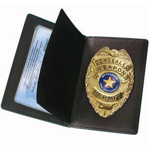 PS Products Concealed Carry Badge and Wallet Black
