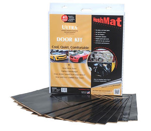 "Hushmat Ultra Door Kit Black-ten 12""x12"" Sheets (10 Sq. Ft.)"
