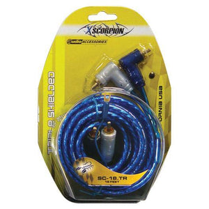 Rca Cable 18' Xscorpion Blue Triple Shielded W-remote Wire