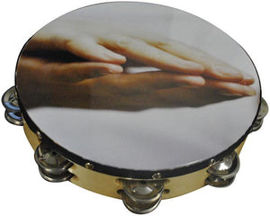 "Nippon 10"" Praying Hands Tambourine"
