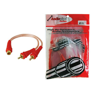 Rca Splitter 1f-2m Audiopipe 1 Bag Of 10= 1 Unit *bmsgyf2m*
