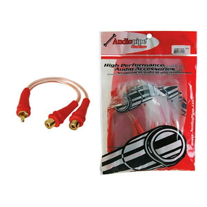 Rca Splitter 1m-2f Audiopipe 1 Bag Of 10= 1 Unit *bmsgym2f*