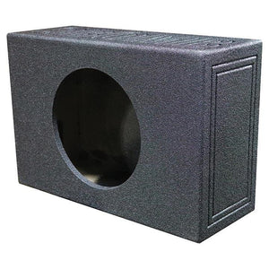 "Qpower Single 12"" Shallow Vented Woofer Box With An Outer Carton"