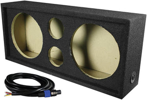 "Qpower Full Range Empty Box Holds 2 - 10"" & 2 - Super Tweeter W- Speakon Connection With Cable"